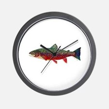 Brook Trout v2 Wall Clock