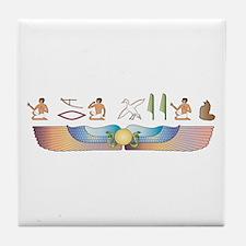 Maine Coon Hieroglyphs Tile Coaster