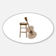 Guitar and Stool Decal