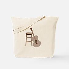 Guitar and Stool Tote Bag