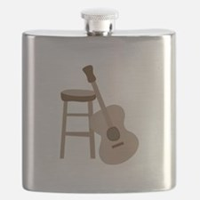 Guitar and Stool Flask