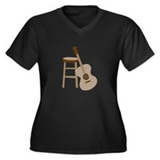Guitar and Stool Plus Size T-Shirt