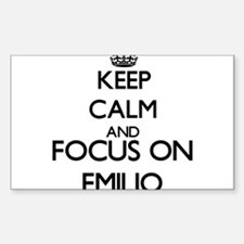 Keep Calm and Focus on Emilio Decal