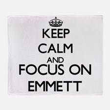 Keep Calm and Focus on Emmett Throw Blanket