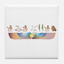 Himalayan Hieroglyphs Tile Coaster