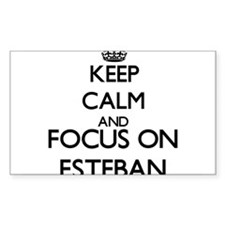Keep Calm and Focus on Esteban Decal