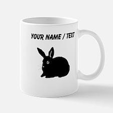 Bunny Silhouette (Custom) Mugs