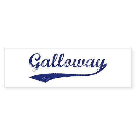 Galloway - vintage (blue) Bumper Sticker