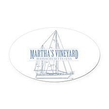 Martha's Vineyard - Oval Car Magnet