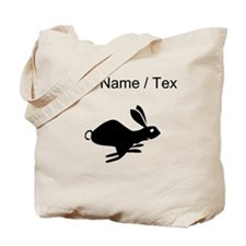 Rabbit Running Silhouette (Custom) Tote Bag