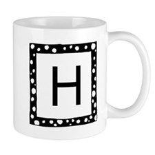 Monogrammed Mugs With Snowflake Border