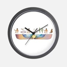Mau Hieroglyphs Wall Clock