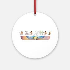 Mau Hieroglyphs Ornament (Round)