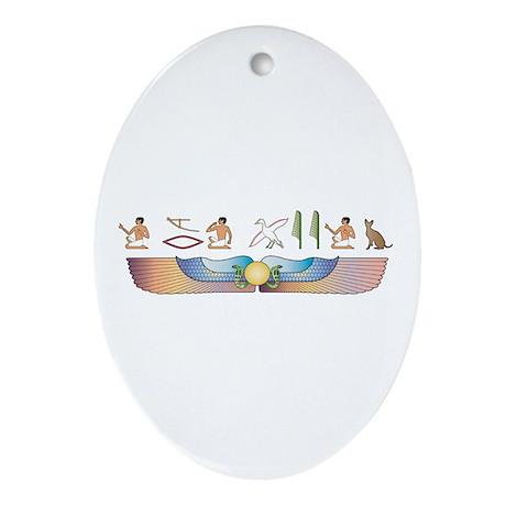 Rex Hieroglyphs Oval Ornament