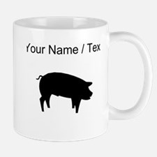 Pig Silhouette (Custom) Mugs