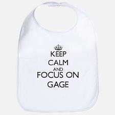 Keep Calm and Focus on Gage Bib