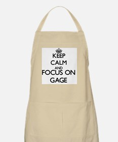 Keep Calm and Focus on Gage Apron