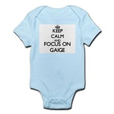 Keep Calm and Focus on Gaige Body Suit