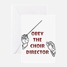 Cute Church choir Greeting Card
