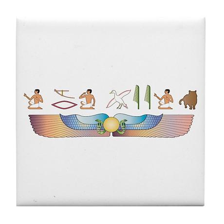 Shorthair Hieroglyphs Tile Coaster