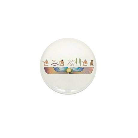 Bombay Hieroglyphs Mini Button