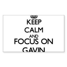 Keep Calm and Focus on Gavin Decal