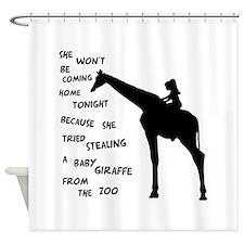 stolengiraffe3.png Shower Curtain
