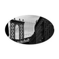 Manhattan Bridge Oval Car Magnet
