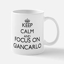 Keep Calm and Focus on Giancarlo Mugs