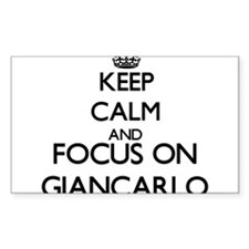Keep Calm and Focus on Giancarlo Decal