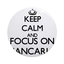 Keep Calm and Focus on Giancarlo Ornament (Round)