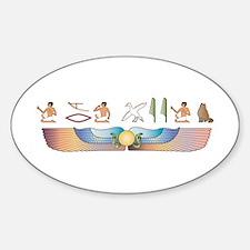 Curl Hieroglyphs Oval Decal