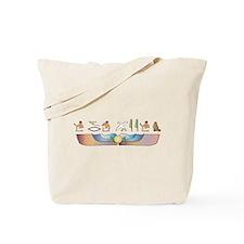 Curl Hieroglyphs Tote Bag