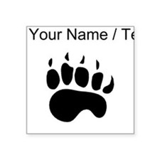 Bear Paw Silhouette (Custom) Sticker
