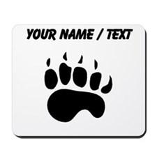 Bear Paw Silhouette (Custom) Mousepad
