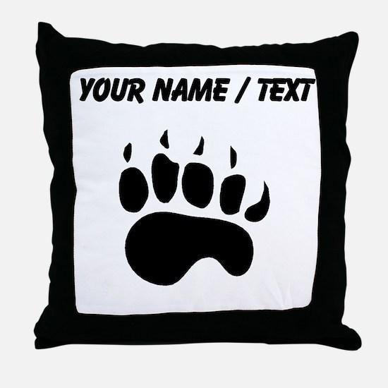 Bear Paw Silhouette (Custom) Throw Pillow