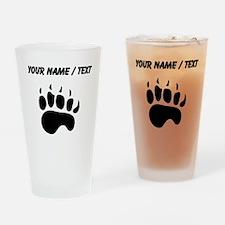 Bear Paw Silhouette (Custom) Drinking Glass