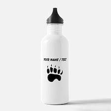Bear Paw Silhouette (Custom) Water Bottle
