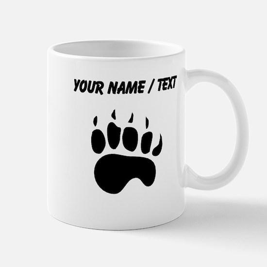 Bear Paw Silhouette (Custom) Mugs