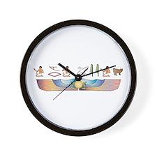 Bobtail Hieroglyphs Wall Clock