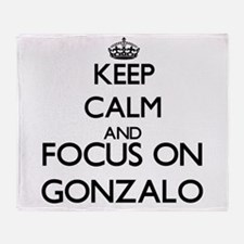Keep Calm and Focus on Gonzalo Throw Blanket