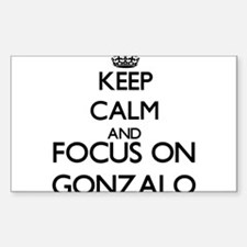 Keep Calm and Focus on Gonzalo Decal