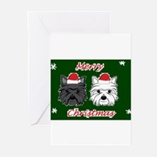Funny Black westie Greeting Cards (Pk of 20)