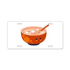 Bowl with Face Aluminum License Plate