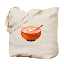 Bowl with Face Tote Bag