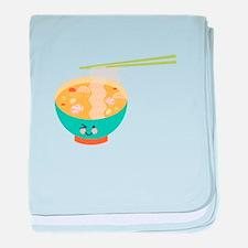 Winking Bowl baby blanket