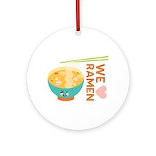 We Love Ramen Ornament (Round)
