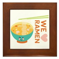 We Love Ramen Framed Tile