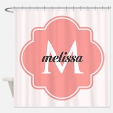 Light Pink Custom Personalized Mono Shower Curtain