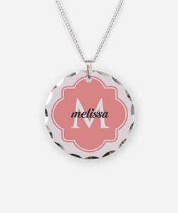 Light Pink Custom Personaliz Necklace